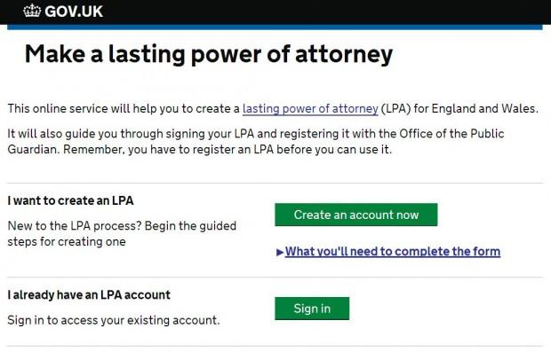 Sceenshot of LPA online service