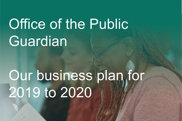 Cover of OPG Business Plan 2019 to 2020